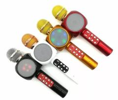 Wireless Bluetooth KTV Karaoke Microphone Speaker USB flash LED Lights