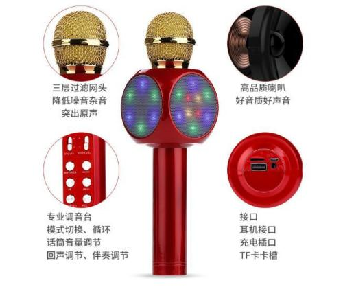 Wireless Karaoke Microphone USB KTV Player Bluetooth Mic Speaker