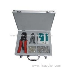 RJ45 crimping tool set LS-K208M including network cable tester Crystal heads and punch down tool pc