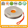 Hot Sale CD Tin Round Box with String for DVD Case Packaging