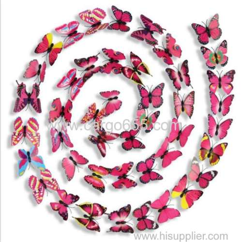 Home decor butterfly 3d wall sticker Unionpromo colorful PVC 3D butterfly wall stickers home decor