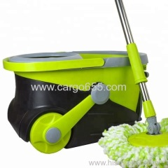Spinning Magic Spin Easy Mop Microfiber 360 Degree Rotating Heads Floor Mop Easy Wring Microfiber Spin Mop and Bucket Fl