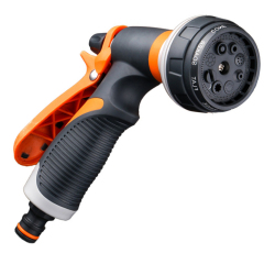 Plastic 8 pattern garden water spray nozzle
