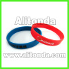 Silicone soft promotional wristband custom
