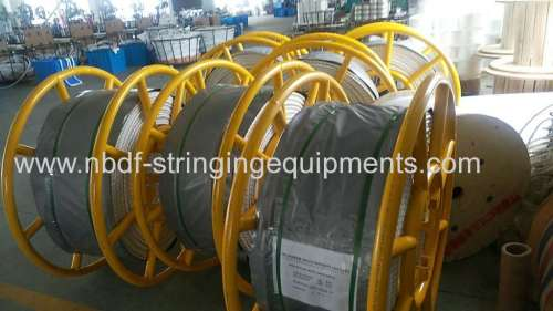 Braided UHMWPE rope for stringing overhead transmission line