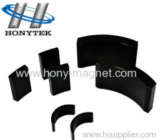 Black Epoxy Coating Bonded Arc Magnet for DC Planetary Gear Motor