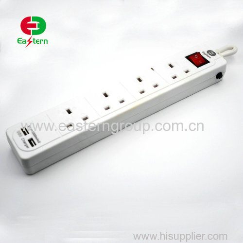 4 outlet power strip with 4 usb charging port