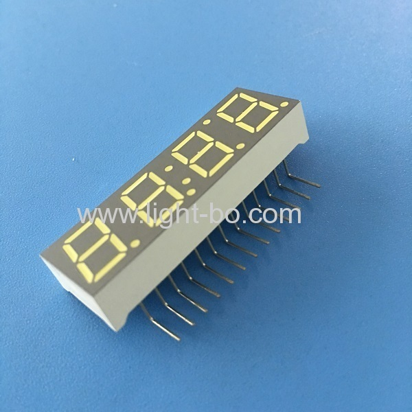 "Ultra white common anode0.39"" 4 Digit 7 Segment LED Display for Digital Set-top Box (STB)"