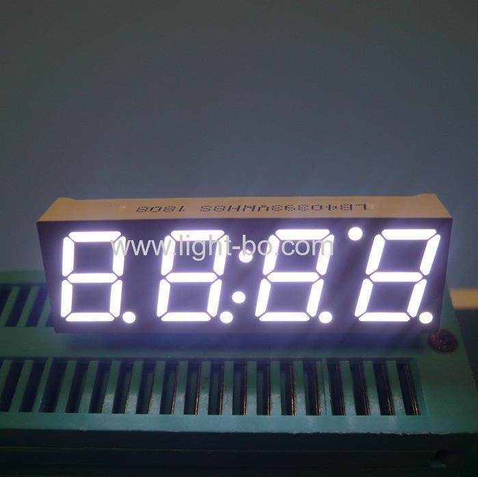 Ultra bright white 4 Digit 7 Segment LED Display for STB ,with 90 DEGREE PIN BENDING !