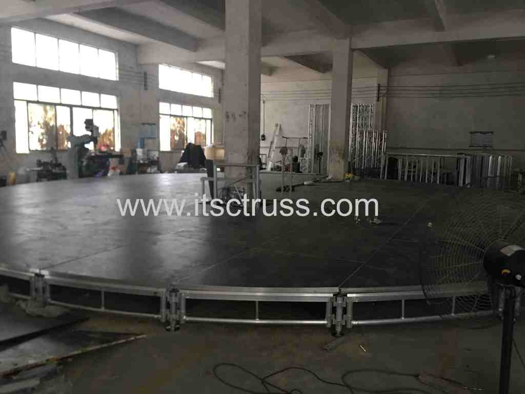 Portable Round Stages for Circus Events in Malaysia