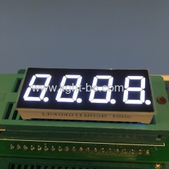"Good consistency ultra bright white 4 digit 7 segment led display 0.4"" common anode for STB"