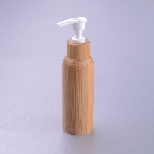 new style empty cosmetic pump bamboo container inner plastic lotion bottles and pumps bamboo cosmetic bottle