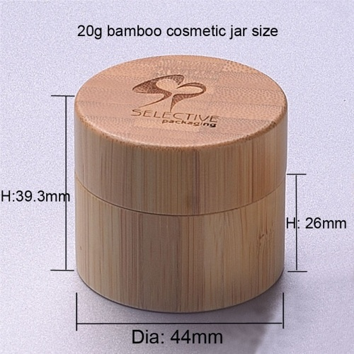 HOT 5g/10g/20g/30g/50g/100g/150g/200g/250g cosmetic jar bamboo in stock