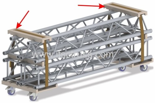 lighting truss trolley for trusses