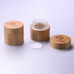 Bamboo jar 100g cream jar personal care face cream double wall jar with glass inner jar and pp cap