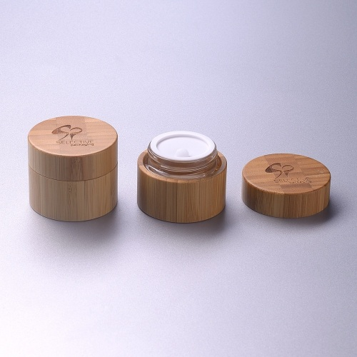 30g Bamboo cream jar carbonized bamboo color makeup package environmentally friendly materials