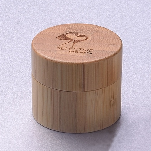 20g popular hot sale PP cream jar with bamboo packaging