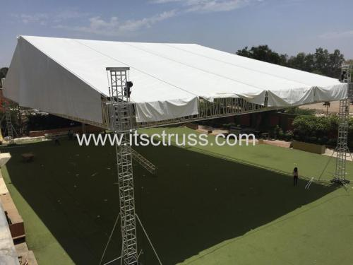 Heavy Duty Giant Flat Roof Lighting Truss System 36x36x12m