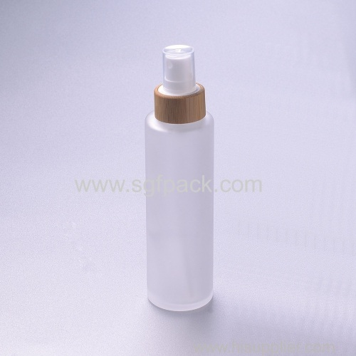 120ml frosted glass bottle with babmoo spray lotion bottle cosmetic packaging