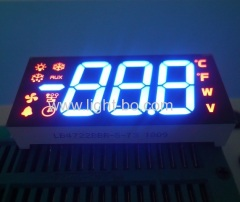 Customized multi-colour triple digit 7 segment led display common anode for Refrigerator