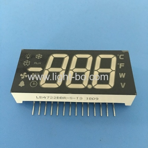 Customized multi-colour triple digit 7 segment led display common anode for Refrigerator Control