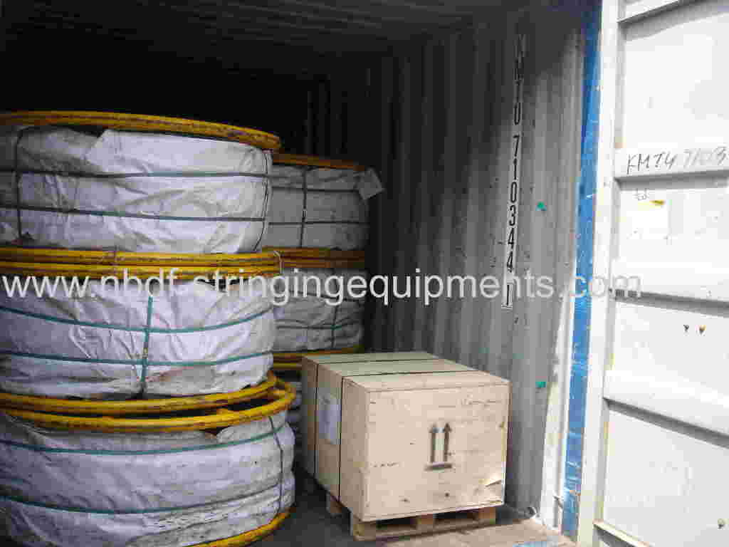 Anti twisting pilot steel wire rope exported for 4 Conductors Stringing