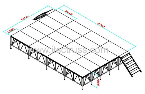 Aluminum Modular stage systems