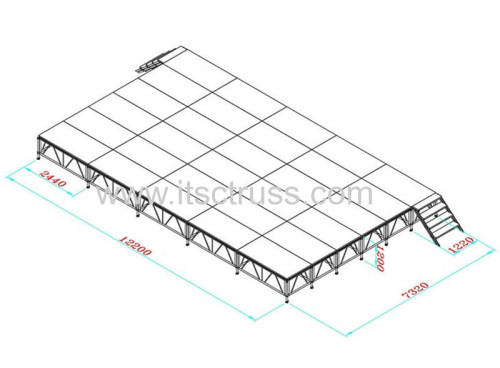 Aluminum staging systems for roof