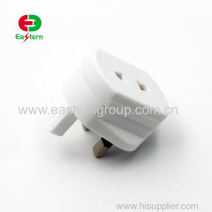 best quality white 3 pin european bs5733 uk travel plug