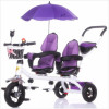 twins Baby Stroller Tricycle For Kids Baby Carrier Tricycle For Children Baby Tricycle Bike With two seat