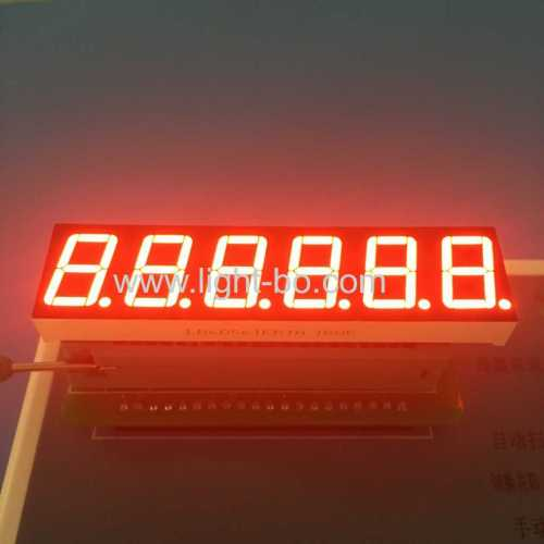 "Long lead length super bright red 0.56"" common cathode 7 Segment LED Display for Instrument Panel"
