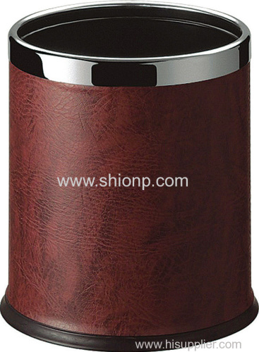 Round double layer waste bin