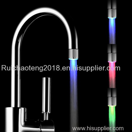 Bathroom faucets water temperature control RGB colors changing led faucet light