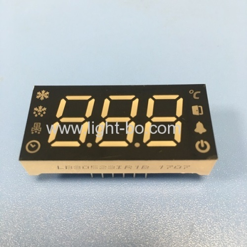 Super Red custom made triple digit led display 7 segment for digital refrigerator control system