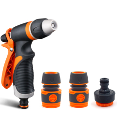 Plastic adjustable garden spray gun set
