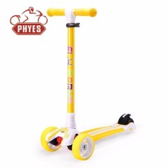 phyes Best quality adjustable height light Up stand up step pedal twist outdoor toy kids scooter