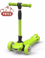 phyes kick scooter three wheels kids scooter twist scooter with light function