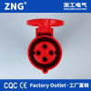 16a4pin industrial connector; IEC60309 industrial coupler 16a 3P+PE