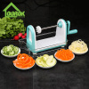 Amazon hot sell spiral vegetable slicer with 5 stainless steel blades kitchen vegetable spiral slicer with food contain