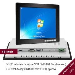 15 inch insutrial panel Touch Screen Monitor IDM-15