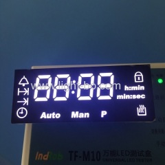 Custom Design ultra white 4 Digit 7 Segment LED Display for digital oven timer control system