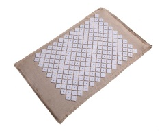 High quality natural cotton and linen acupuncture mat with organic coconut with square spike