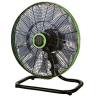 "EC Floor Fan With Brushless Permanent Magnet EC motor Wifi Bluetooth Radio Frequency Remote-18"" Green Style"