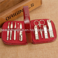 Gold plating mens manicure set manicure set for teenager manicure pedicure kit professional nail kit nail clippers