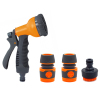 Plastic 8 function garden hose nozzle set for lawn water