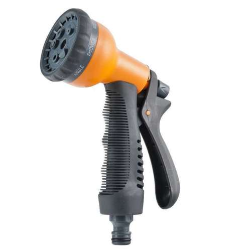 Plastic 8-function water hose nozzle for car wash