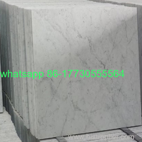 Natural Bianco Carrara White Color Marble Tiles and SlabsJ-04
