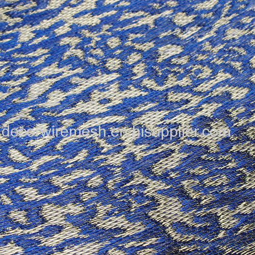 Colorful Textile with silver coated copper wire