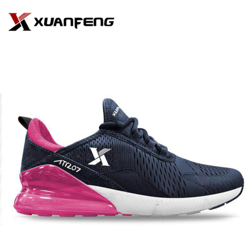 China pink flyknit running shoes vendor