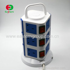 Vertical Intelligent 110v 250v 10a 13a 16a different types Retractable Power Strip Motorized Pop Up